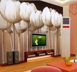 Искусство может настроить экологичный 3d трехмерный абстрактный Лотос большие фрески диван ТВ фон обои стены моды росписи домашнего декора от