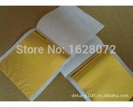Wholesale Sheet China Wholesale - 1509 1000 sheets Taiwan shiny Imitation gold leaf color like 24k gold free shipping