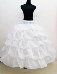 Wholesale Ivory Crinoline Petticoat - Fast Shipping 2018 New Bridal Petticoat Cascading Ruffles Ball Gown Petticoat Three Crinoline Petticoat Under Bridal Wedding Dresses