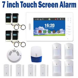Sistema di allarme GSM intelligente Allarme Smart Home Allarme di sicurezza IOS e APP Android controllati con LCD touch screen da