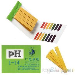 Tiras de prueba de fuego online-80 Tiras Ácido Alcalino de pH Completo 1-14 Papel de Prueba Kit de Prueba de Litmus de Agua 1NRI