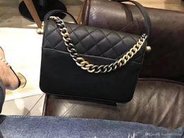 Wholesale Leather Deerskin Bag - luxury 2018 women fashion shoulder bag leather crossbody cosmetic bag deerskin genuine leather famous Luxury brand with metal highest qualit