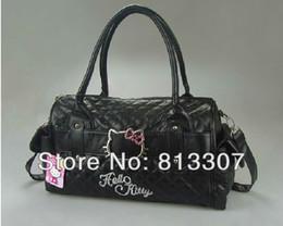 Wholesale Nylon Tracks - hello kitty bags HelloKitty for Women Girl Shoulder Bag Purse Handbag Tote Shining Gift white pink Bag Children 1pcs order<$15 no tracking