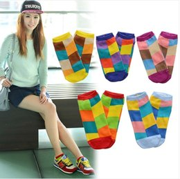 Wholesale Wholesale Products Korea - Wholesale-D809 socks wholesale manufacturers of cotton products in Korea Zhuo candy color color diamond qsya Womens cotton socks