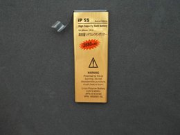 Wholesale High Capacity Golden Battery - High Capacity 2680mAh Replacement Li-ion Battery for iPhone 5 5g 5c 5s Golden Mobile Phone Battery
