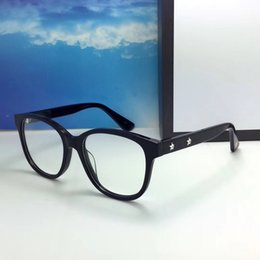 Wholesale glasses brand frame optical - 0175 Luxury Fashion Women Brand Designer 0175O Glasses Hollow Out Optical Lens Square Full Frame Black Tortoise Bing Bing Come With Case