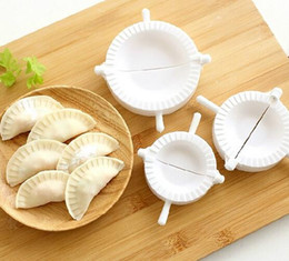 Wholesale Ceramic Pie - 3pcs lot Press Ravioli Dough Pastry Pie Dumpling Maker Gyoza Empanada Mold Mould Tool 3 Size Easy Eco Friendly Dumpling Mould