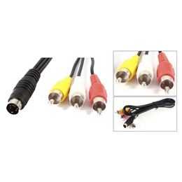 Wholesale Track Conversions - FS Hot 1.5M 4.9ft 3 RCA Male to 4 Pin S-Video Male TV PC Conversion Cable order<$18no track