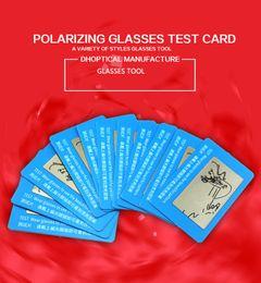 Тест-карты с поляризованными солнцезащитными очками онлайн-поляризационные очки тест-карты, солнцезащитные очки поляризационный текст карты 100 шт. очки аксессуары для очки магазин бесплатная доставка