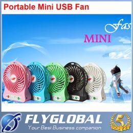 Wholesale Pedestal Lamps - F95B Portable Mini USB Fan Rechargeable Battery mini Fan LED Lamp for Indoor  Outdoor  Kids Table Mini Fan 2200MAH Battery F95B Portable Min