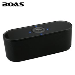 Wholesale Micro Bluetooth Handsfree - Wholesale- BOAS Bluetooth Wireless Speaker Stereo Outdoor Portable with LED Handsfree Call Support Micro-SD Aux-in Music For Iphone Samsung