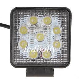 Auto geführtes arbeitslicht bar online-1800LM 27W High-Power 9X 3W Bead LED Arbeitslicht Square Offroad LED Auto Work Light Bar