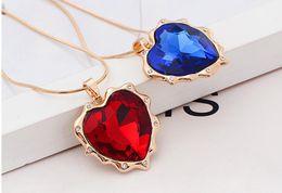 Wholesale Miss Love Hearts - 2016 New Fashion Peach heart crystal alloy long necklace Miss Mao Yilian