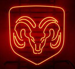 "Wholesale Salon Light Signs - Hot Dodge Ram Bar Beer Pub Store Disco KTV Motel Salon Display New Real Glass Tube Neon Light Sign 16""X13"""