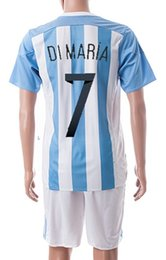Wholesale Cheap Argentina Football Jerseys - Copa America 2015 new discount Cheap soccer jerseys,Customized Argentina home #7 dimaria Football Shirts With Shorts,good Soccer Jersey suit