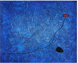 Wholesale Miro Paintings Reproductions - Museum quality only! 100% hand painted famous impressionist reproduction oil paintings on canvas,Joan Miro-Bleu III