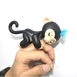 Wholesale Blow Packaging - Smart Interactive Monkey with Full fuctions Smart Touch Finger Monkeys Electronic Flingerlings Monkey can Blink Blow to KIiss with Package