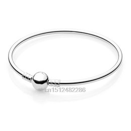 Wholesale Discounts Bracelet - Free shipping Big Discount Genuine Brand 925 Silver Bangles Bracelet chain For European Charms Beads DIY Women Fashion Jewelry