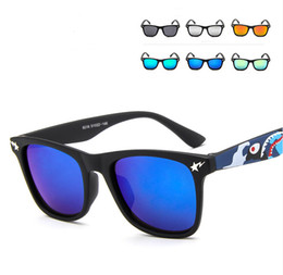 Wholesale Eyewear Children - 2016 Hot Selling Kid Size Girl Boy Mirrored Sunglasses Brand Designer retro Style Eyewear Coating Lenses Glasses UV400 Protection
