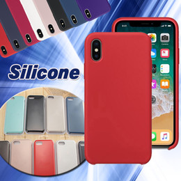 Wholesale Iphone Rubber Shell Case - For iPhone X Silicone Case Slim Ultra Thin Soft Rubber Solid Cover Soft Shell For iPhone X 8 Plus 7 6 6S With Retail Box Free Shipping DHL