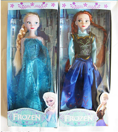 """Wholesale Christmas Singing Dolls - Frozen Elsa and Anna Musical Dolls 11inch play set doll toys sing song music """"let it go"""" Christmas gift for kids"""