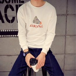 Wholesale South Korean Men Street Fashion - Port of South Korea on the streets of Harajuku fashion male Korean Slim letters printed sweater class service men and women college wind jac