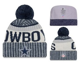 Wholesale Embroidered Football - TOP Quality! 2017 Winter caps football Skateboards beanie hat all baseball team winter beanies Embroidered casual Skull beanies