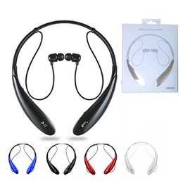 Wholesale Headphone Logo - HBS-800 Bluetooth Headset Headphone Earphone hbs 800 Stereo Wireless Neckbands for iphone 6 6s 6Plus 7 plus without logo With Retail Box