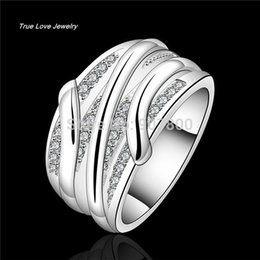 Wholesale 925 Sterling Ring Price - R572 Fashion finger ring with Zircon 925 sterling silver fashion jewelry factory price