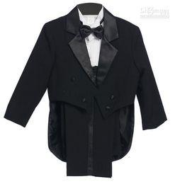 Wholesale Navy Blue Dress Accessories Color - 2015 New Arrival Stylish Christmas Wedding Dress Boy Suit Groom Wear & Accessories Boys' Attire Groom Tuxedos(3 pieces  set)