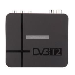 Wholesale Set Top Box Mpeg - Mini TV box DVB T2 Terrestrial Receiver DVB-T2 MPEG-2 -4 H.264 Support USB HDMI Set Top Box For RUSSIA Europe THAILAND Columbia