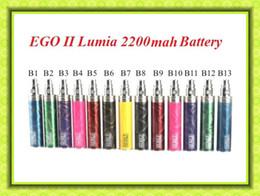 Wholesale Ego Coloful Battery - Coloful GS Ego II 2200mah Battery E Cigarettes Lumia battery 2200 mAh For GS Air tank VS EVOD Twisted II Electronic Cigarettes