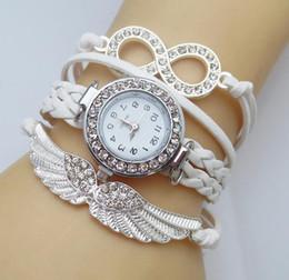 Fille Bracelets Watch Angle Aile Quartz Montre Amitié Bracelet Tressé Nouvelle Mode Adolescent Strass pour la Vente en gros ? partir de fabricateur