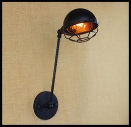 Ac110v 120v 220v 230v 240v E27 Edison Vintage Bulb Lamps Art Deco Wall Sconces Lamp Industrial Iron Wall Lamp For Bar Coffee Shop Home