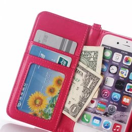 Wholesale Envelope Case Purse - For Iphone 7 I7 6S 6 plus 4.7 5.5 I6S Wallet Leather Case Folding Rope Photo Frame Money ID Card Pouch Purse TPU Envelope Clutch Bag Cover
