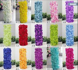 Künstliche Hydragea Blumengirlanden 5 Stücke 48 * 20 cm Gefälschte Hortensien Blumenarrangements für Hochzeit Registrierung Hintergrund Dekorationen von Fabrikanten