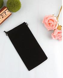 Wholesale Velvet Bags Wholesale - Velvet Drawstring Pouch 8x17cm 8x22cm pack of 50 Pen Hair Makup Jewelry Gift Packaing Bag