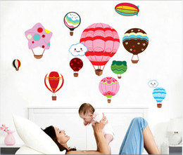 Wholesale Baby Girl Stickers Free Shipping - balloons wall stickers girl baby room decoration cartoon Nursery Kids Room Decoration Decals 115x78cm free shipping MOQ 1pc