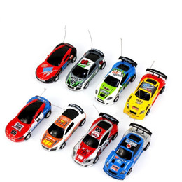 Wholesale Remote Control Racers - 8 color Mini-Racer Remote Control Car Coke Can Mini RC Radio Remote Control Micro Racing 1:64 Car 8803 christmas gift