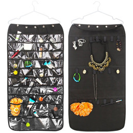 Wholesale Necklaces Fabric - Jewelry Storage Hang Bag Double Sided Non Woven Necklace Bracelet Organizer Pouch Hot Sale 17 64kj C R
