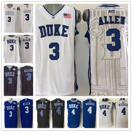 Wholesale Shirts Basketball - Wholesale 3 Grayson Allen 4 JJ Redick Duke Blue Devils Men's College Jerseys High Quality Basketball Shirts Embroidery Logos Free Shipp