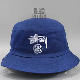 Wholesale-Wholesale Brand Bucket Hats Flat Hunting FIshing Hats Men Women  100% Cotton Sombrero Pescador Gorras Planas Hip Hop Boonie Cap fe2b977af2ae