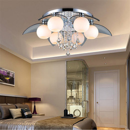 Wholesale E27 Led Remote Base - chandelier Crystal Ceiling Lights 110V 220V Voltage Non Dimmable Surface Mounted Ceiling Lights Fit for Mall E12 E14 E27 Lamp Base ws-001