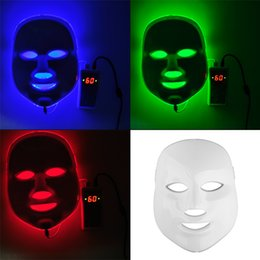 Wholesale Wholesale Korean Lighting - Korean LED Photodynamic Facial Mask Home Use Beauty Equipment Anti-acne Skin Rejuvenation LED Photodynamic Masks 3Colors Lights 0602011