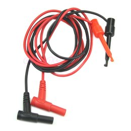 Wholesale Multimeter Probes Hook - P80 1Pair Banana Plug To Test Hook Clip Probe Cable For Multimeter
