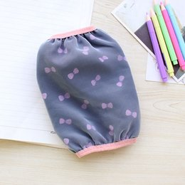 Wholesale Long Fingerless Gloves Girls - Wholesale-[4280] Korean version of the long section of double sleeves office Girls cute bow wild warm waterproof cuff