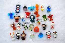 Wholesale Glass Beads Cartoon - 30pcs lots cartoon animal Lampwork Murano Glass beads Pendants fit necklace wholesale lots fashion Jewelry party gift