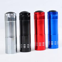 Mini lanterna super led on-line-Portátil 9 LED Mini Lanternas LED Super Bright LED Tocha Luz Lanternas de Campismo Ao Ar Livre Preto
