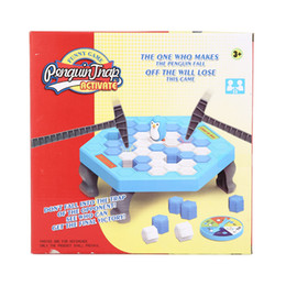 Wholesale Box Broken - Interactive Ice Breaking Table Penguin Trap Children Funny Game Penguin Trap Activate Entertainment Toy Family Fun Game with Box