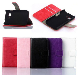 Wholesale Galaxy Young Wallet - Retro Wallet Flip PU Leather Case for Samsung Galaxy Young 2 Young2 G130 G130H Nokia Lumia 530 With Credit Card Holder Back Stand
